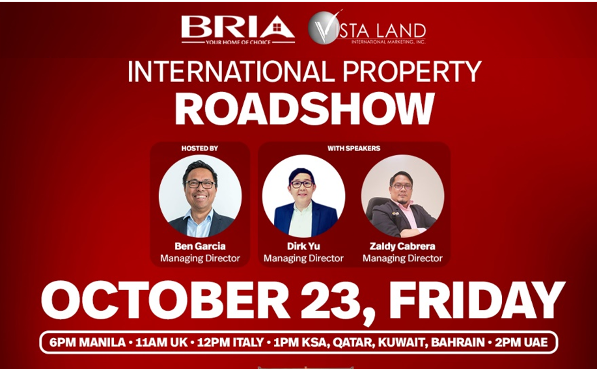 Bria International Property Roadshow, house and lot Philippines