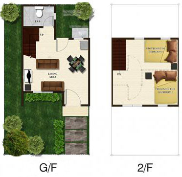 Angelique Duplex Floor Plan