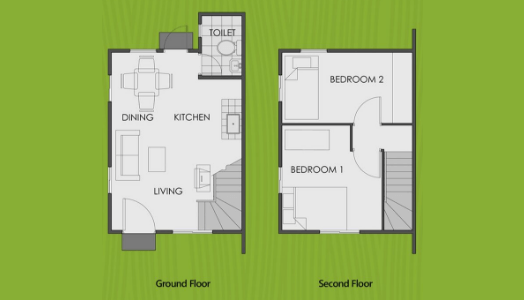 vista land international camella mika floor plan for its ground floor and second floor image