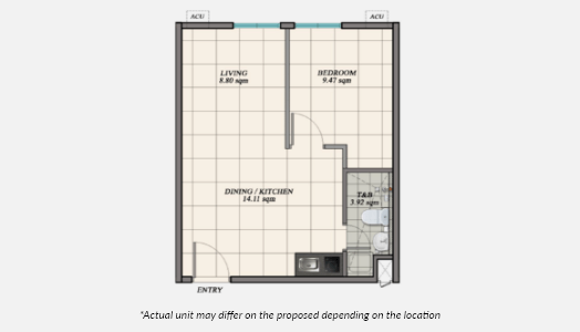1 Bedroom Premium Floor Plan